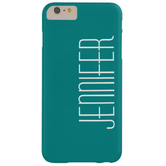 Modern Chic Turquoise Personalized Jumbo Name Barely There iPhone 6 Plus Case