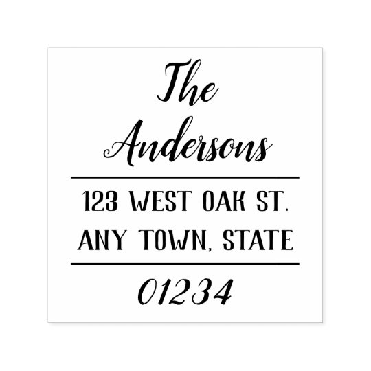 Modern Chic Typography Return Address Stamp