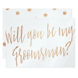 "Modern Chic ""Will you be my groomsman"" Card"
