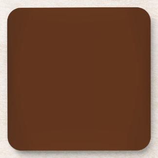 Modern Chocolate Brown Customizable Coaster