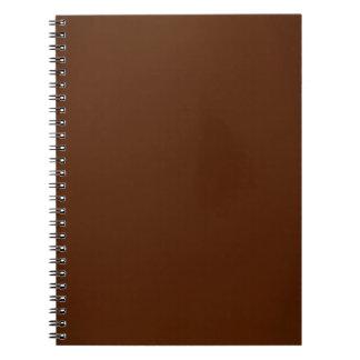 Modern Chocolate Brown Customizable Spiral Notebooks
