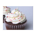 Modern Chocolate Cupcakes with Sprinkles Gallery Wrap Canvas