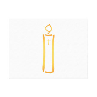 Modern Christian Candle Gallery Wrapped Canvas
