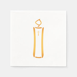 Modern Christian Candle Paper Napkin