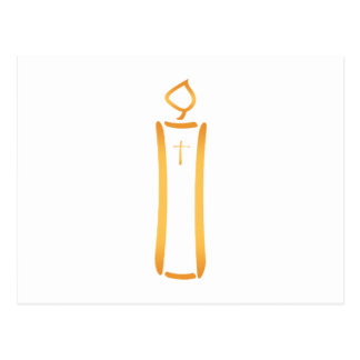 Modern Christian Candle Postcard