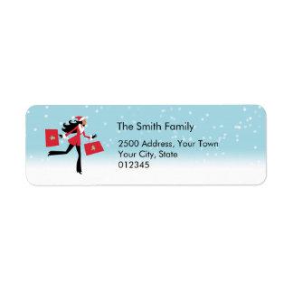 Modern Christmas Address Label