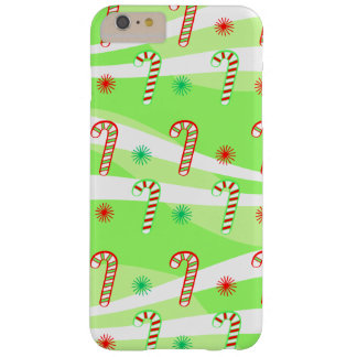 Modern Christmas Candy Canes Design Barely There iPhone 6 Plus Case