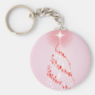 Modern Christmas Card Basic Round Button Key Ring