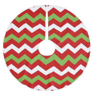 Modern Christmas Chevron Pattern Brushed Polyester Tree Skirt