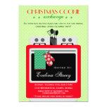 Modern Christmas Cookie Exchange 13 Cm X 18 Cm Invitation Card
