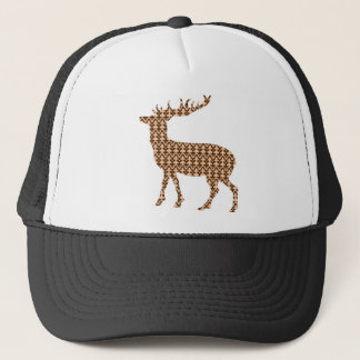 Modern christmas deer trucker hat
