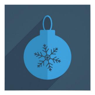 Modern Christmas Design 13 Cm X 13 Cm Square Invitation Card