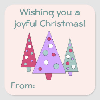 Modern Christmas Gift Tag Stickers