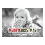 MODERN CHRISTMAS | HOLIDAY PHOTO CARD 13 CM X 18 CM INVITATION CARD