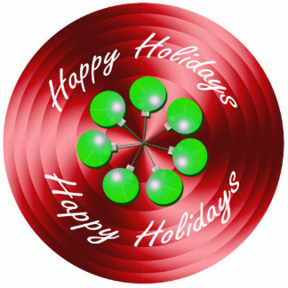 Modern Christmas Holiday Spin Standing Photo Sculpture