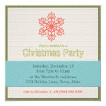 Modern Christmas Party Invitations