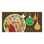 Modern Christmas Photo Card- Chocolate Brown