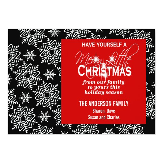 Modern Christmas snowflake PERSONALIZE Card