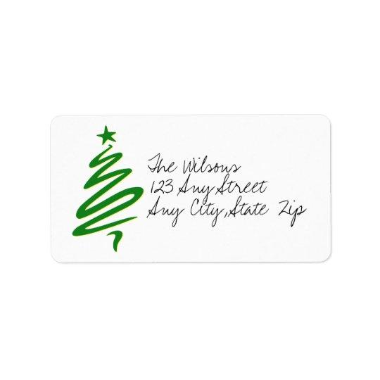 Modern Christmas Tree Address Labels