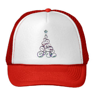 Modern Christmas Tree Art Cap