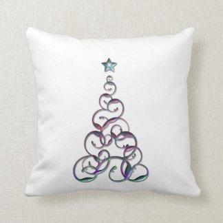 Modern Christmas Tree Art Pillows