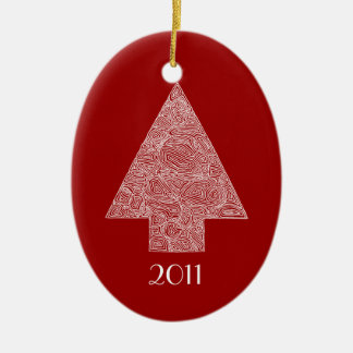 Modern Christmas Tree Christmas Ornament