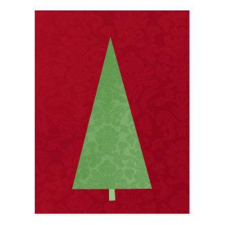 Modern Christmas Tree Holiday Post Card