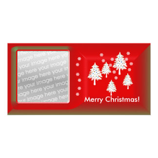 Modern Christmas Trees Personalized Photo Card