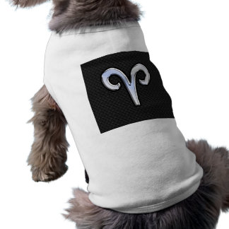 Modern Chrome Like Aries Zodiac Sign Sleeveless Dog Shirt
