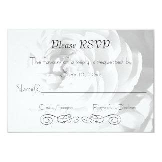 Modern Chrysanthemum/Peony - RSVP Reception Card