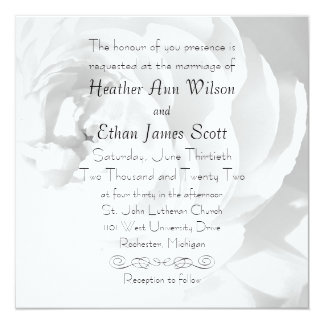 Modern Chrysanthemum/Peony - Wedding Invitation