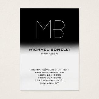 Modern chubby black white stylish business card