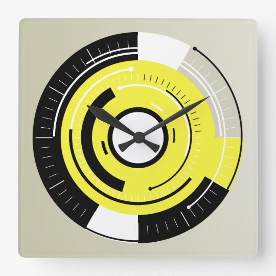 MODERN CIRCLE | trendy graphic design Square Wall