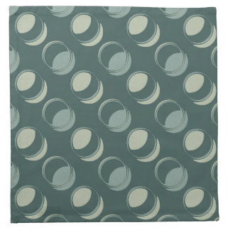 Modern Circles Textured Shades of Teal and Green Napkin