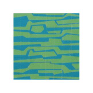Modern Circuit V Wood Print
