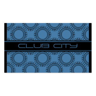 Modern Circular Caps Business Card Blue