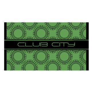 Modern Circular Caps Business Card Green