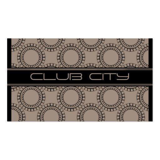 Modern Circular Caps Business Card, Mocha