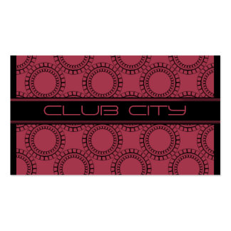 Modern Circular Caps Business Card Pink