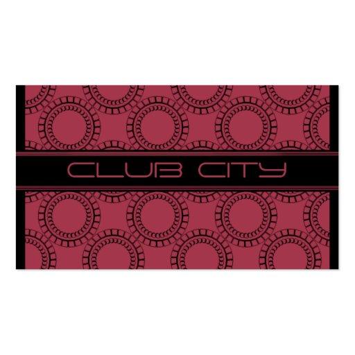 Modern Circular Caps Business Card, Pink