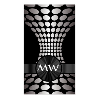 Modern circular design business card template