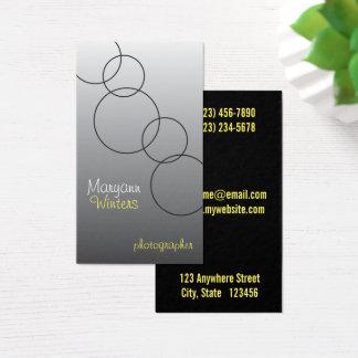 Modern Circular Photography Business Card
