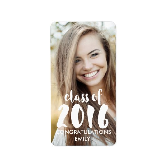 Modern Class of 2016 Favour Label Address Label