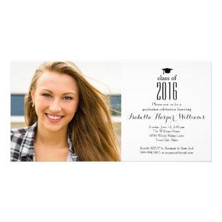 Modern Class of 2017 Graduation Photo Customised Photo Card