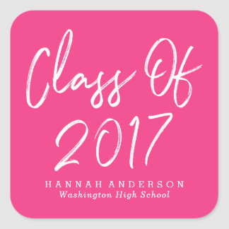 Modern Class of 2017 | Graduation Square Sticker