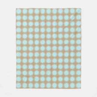 Modern-Classic-Aqua-Beige_Fleece-S-M-L Fleece Blanket
