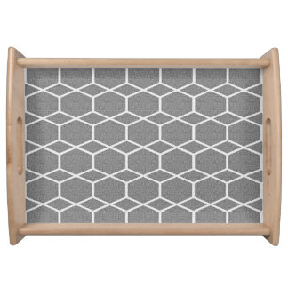 Modern_Classic-Hexagon-S-L-Silver-White Serving Tray
