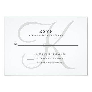 Modern Classic Monogram in Gray RSVP Card