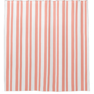 Modern-Classic-Peach-Stripe's-Designer-Bath-Decor Shower Curtain