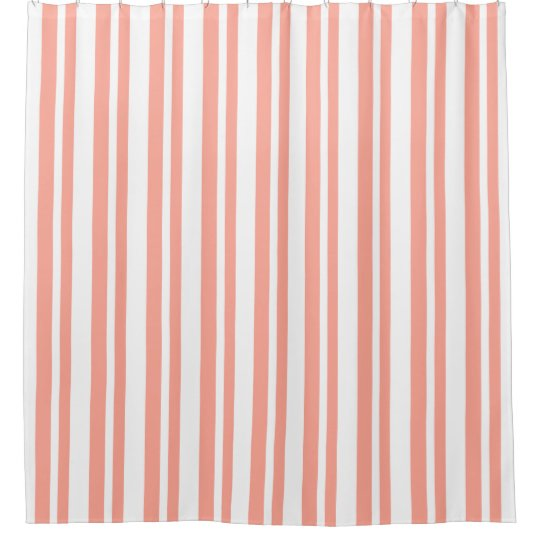 Modern-Classic-Peach-Stripe's-Designer-Bath-Decor Shower Curtain